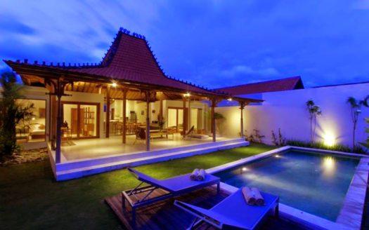 night view - villa wira - bali icon property